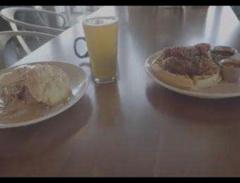 Dempsey's Burger chix & waffle