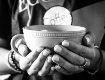 Ecclesia Cup hand warmer Visit Wichita