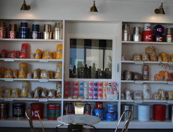 The Popcorner colorful tins Visit Wichita