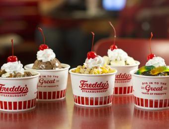Freddy's cups of concrete Visit Wichita