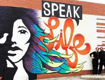 DDD Mural - Speak Life