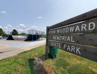 Edgemoor Park Skate Park Sign