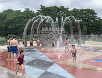 Evergreen Park Kids in Splash Pad