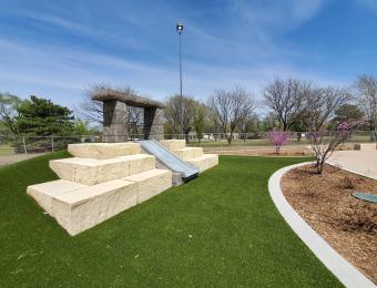 Evergreen Park Splash Pad Slide