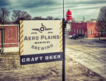 Aero Plains exterior sign Visit Wichita