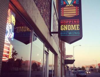 Hopping Gnome Exterior Sign Visit Wichita