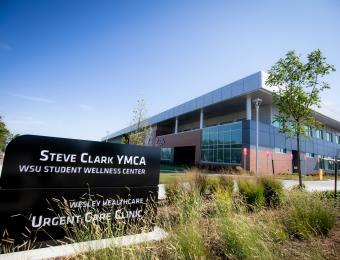 Exterior with Sign Steve Clark YMCA
