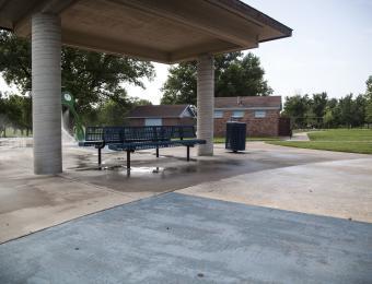Fairmount Park Splash Pad Seating