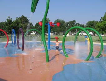 Fairmount Park Splash Pad with Kid