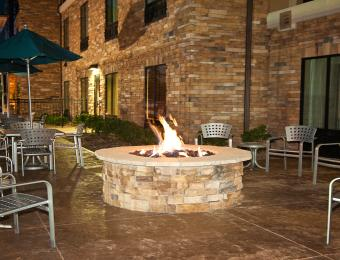 Holiday Inn Exp NE Firepit Visit Wichita