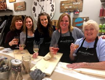 Board & Brush girls night Visit Wichita