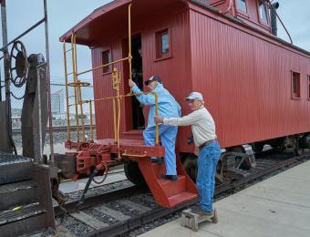 Great Plains Transportation Museum Caboos