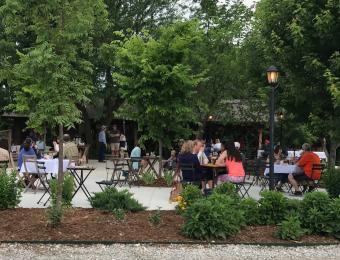 Bramble Cafe on the Patio at Elderslie Farm