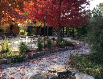 The Elderslie Farm Patio in the Fall