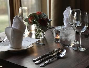 Table for Two in the South Dining Room at Elderslie Farm