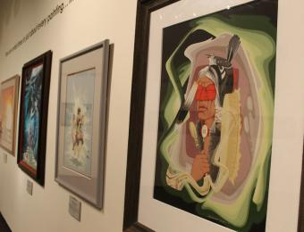 The Mid-America All Indian Center has an extensive collection of Blackbear Bosin's artwork.