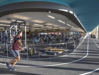 YMCA DT interior track Visit Wichita