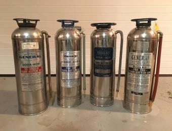 Kansas Firefighter Museum Extinguishers