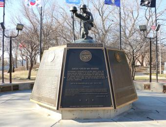 Veteran Park Korean War Visit Wichita
