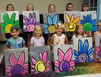 Paint the Towne Kids & Flowers Visit Wichita