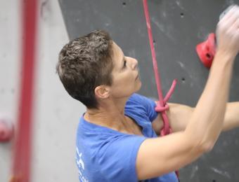 Bliss lady climber Visit Wichita