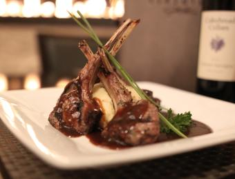 Marriott Fireside Lamb Chops