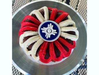 Monica's Bundt Cake Wichita Flag partner provided Visit Wichita