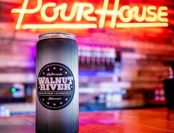 PourHouse neon & Walnut can Visit Wichita