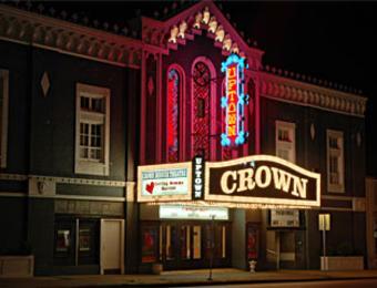 Crown night exterior Visit Wichita