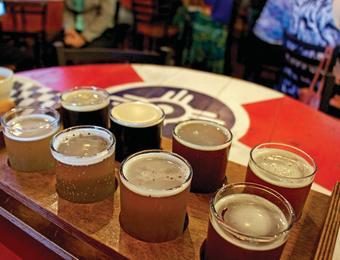 River City Brewing Co_beer flight