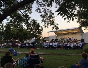 Chamber Music orchestra outside Visit Wichita