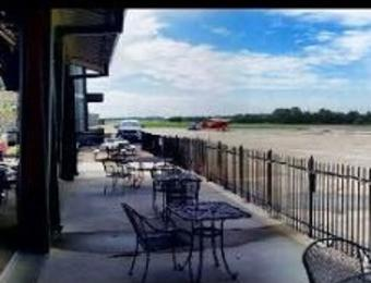 Stearman Bar/Grill Patio & Plane Visit Wichita