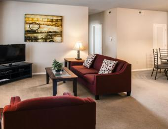 Quarters at Cambridge - Apt Living Room