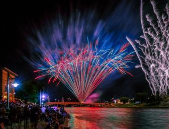 Riverfest Fireworks by Rick McPherson