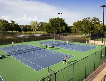 Ralph Wulz Riverside Tennis Court Game