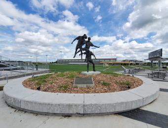 Stryker Sports Complex Statue