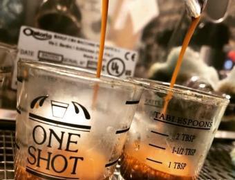 Sunflower Espresso Coffee shot