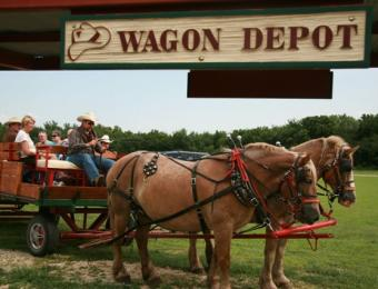 Prairie Rose Wagon Ride Visit Wichita