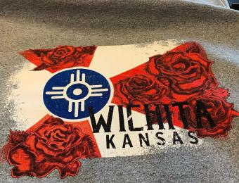 Wichita Screen Printing Wichita Flag Rose