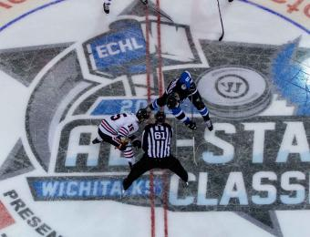 Wichita Thunder Hockey Faceoff