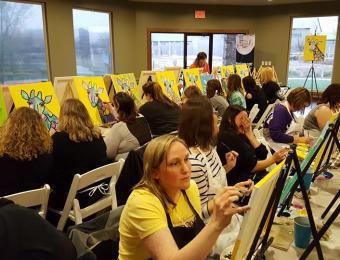 Paint the Towne Yellow Giraffe Visit Wichita