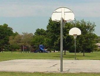 Basketball Courts at Osage Park Wichita