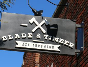 Blade and Timber Sign
