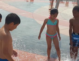 Kids Playing at the Buffalo Park Splash Pad