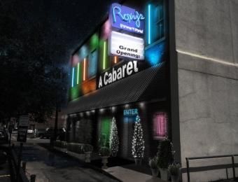 Cabaret outside night