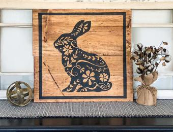 Board & Brush ornate bunny Visit Wichita