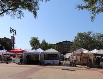 Booths Set-up at the Old Town Farmers' Market