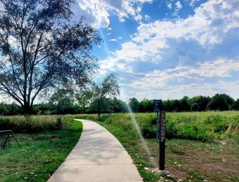 Walking Path at Swanson Park Wichita