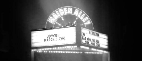 JoyCut at Maiden Alley Cinema