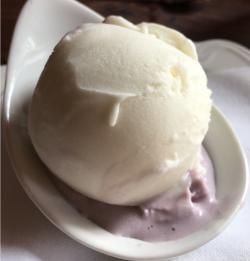 Scoop of ice cream from Elderslie Farm Creamery in Wichita KS